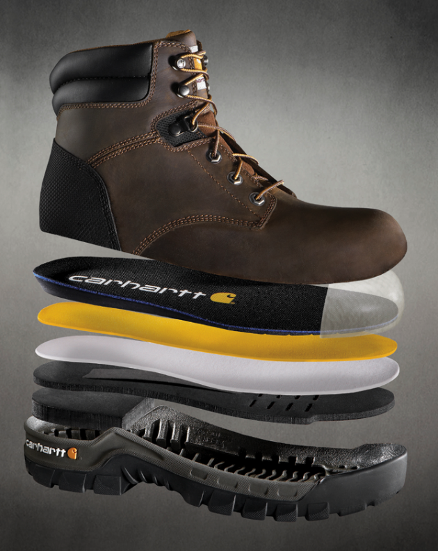 Exploded view photography of a boot - Product photography